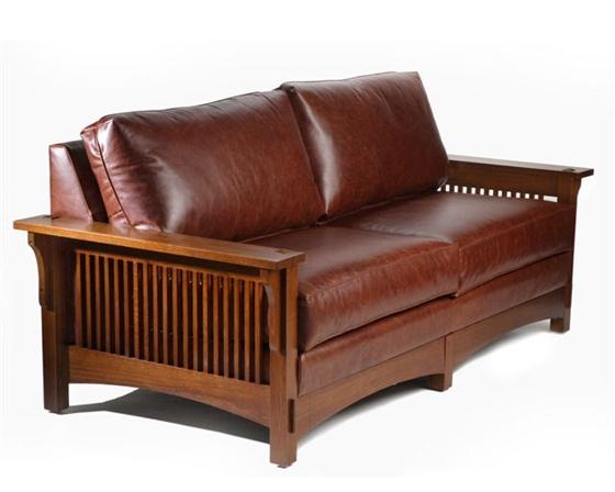 arts crafts leather sofa home pinterest. Black Bedroom Furniture Sets. Home Design Ideas