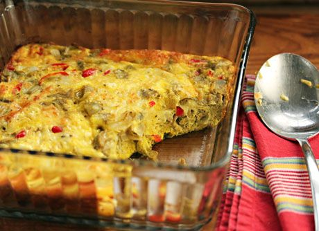 Recipe for egg and cheese casserole with artichoke hearts and feta ...
