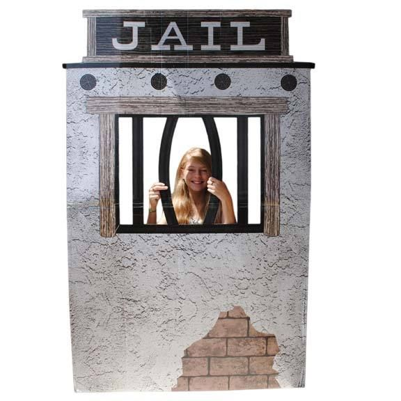 cardboard jail photo prop