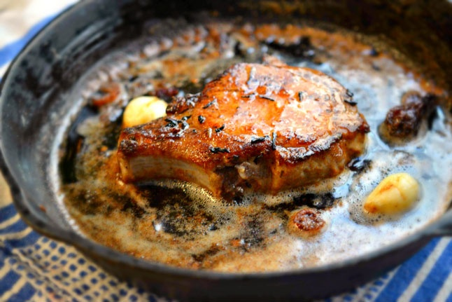 Dan's Good Side: An easy recipe for a Pan-Roasted Brined Pork Chop ...