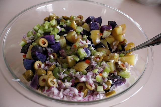 Purple Potato Salad | Edible Roots | Pinterest