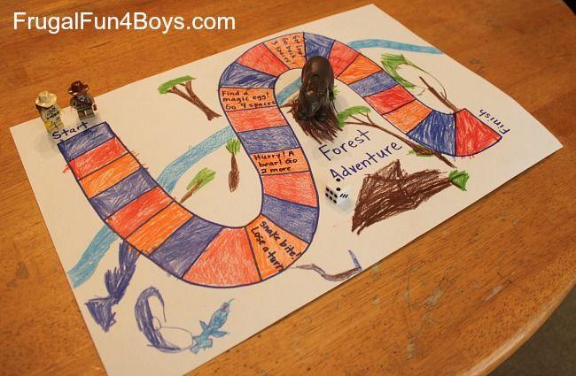 Learn preschool math with a homemade board game Home create games