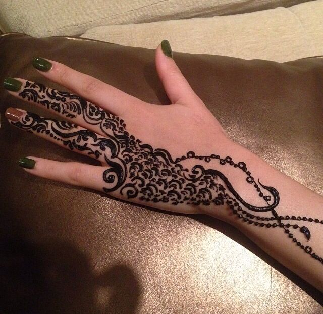 Black Henna  Hena  Pinterest