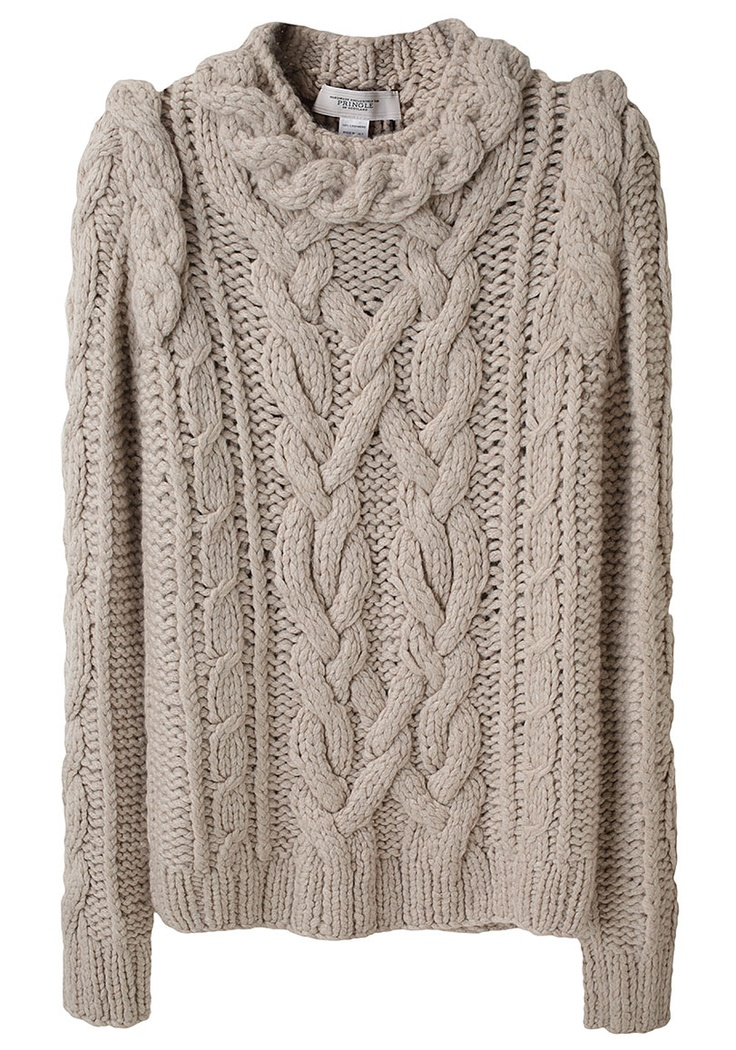 Chunky Cable Knit Sweater Fall Fashions Pinterest