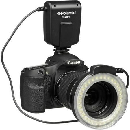 polaroid macro led ring flash & light for nikon slr