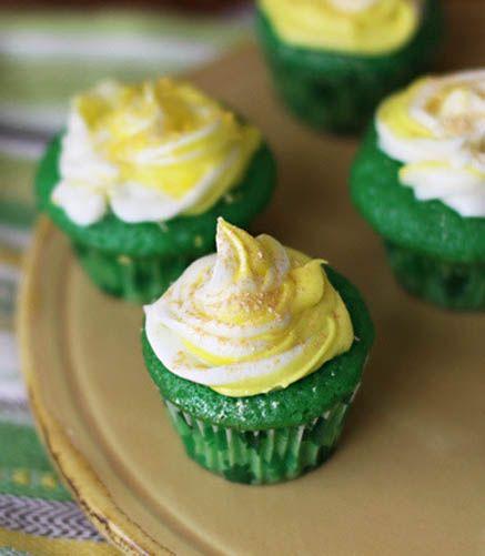 Lucky Green Velvet Baby Cakes. St_Patricks_Day #food #green_velvet # ...