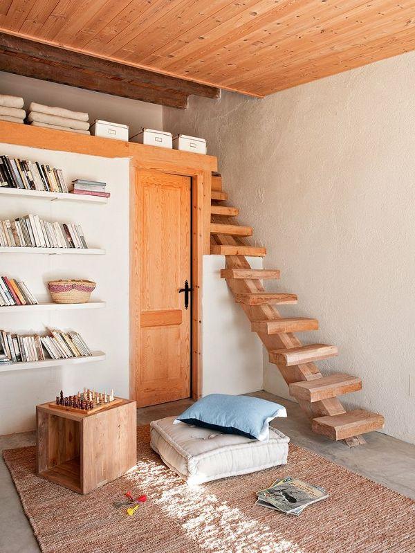 casas prefabricadas madera escaleras de buhardilla