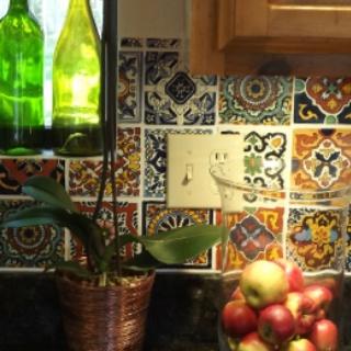 mexican tile backsplash love it kitchen pinterest