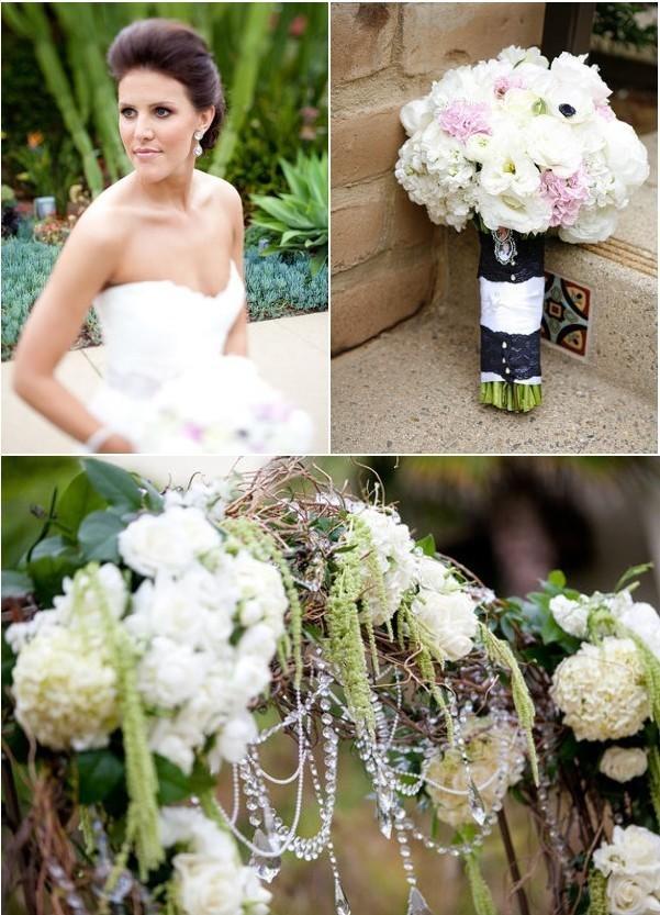 deco-mariage-noir-blanc-jardin  Wedding decorations  Pinterest