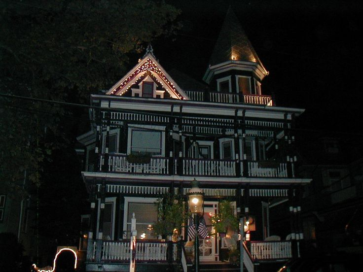 """This building dates from 1899. It was built as a summer home, like most of the Bed & Breakfasts in Cape May. Like many of the former summer homes, the Inn at 22 Jackson Street also has a resident ghost. They call her Esmerelda. Reports of inexplicable phenomena that were attributed to this ghost go back to the mid-twentieth century. Esmerelda has always been classified as a friendly, fun-loving spirit who seems to have a great fondness for children.   Esmerelda """"lives"""" in the turret."""