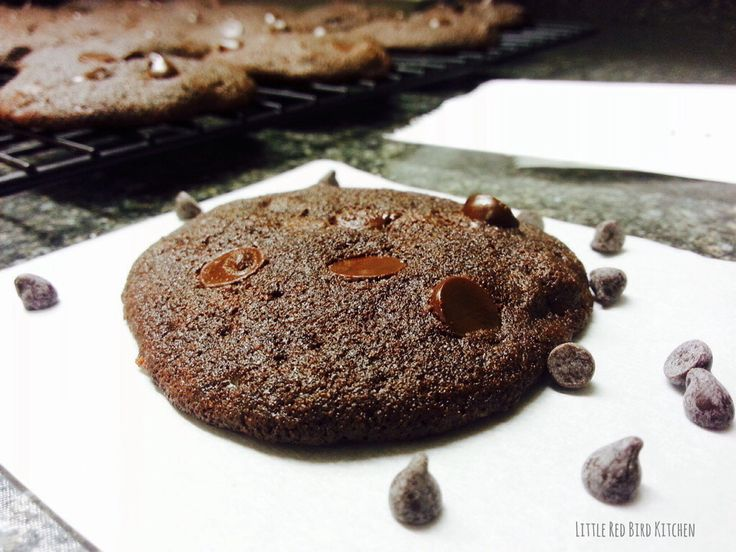Double chocolate chip cookies. Gluten, grain, dairy and nut free. Made ...