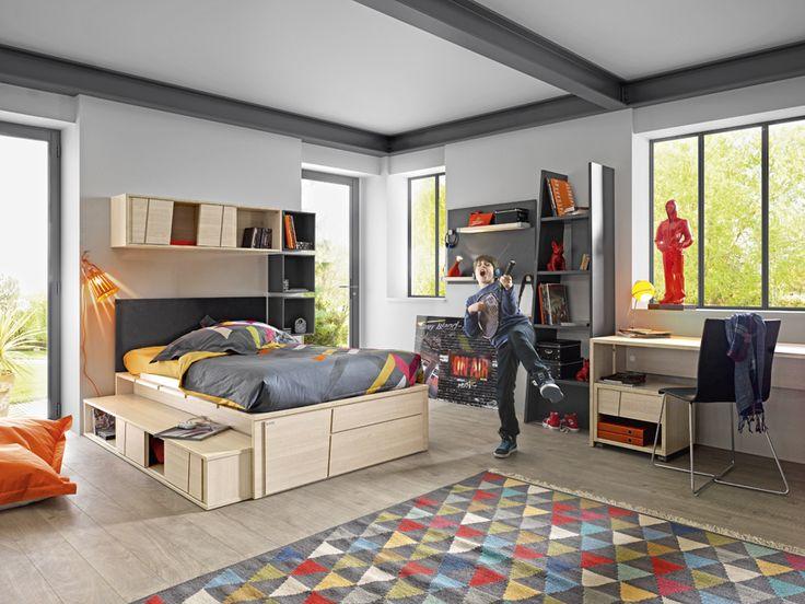 stoere tienerkamer cameo van gautier voor jongens en meisjes de boomhut moderne. Black Bedroom Furniture Sets. Home Design Ideas