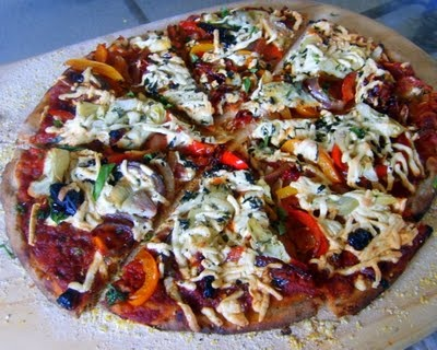 Very Veggie Pizza | Healthy Recipes - vegan style | Pinterest