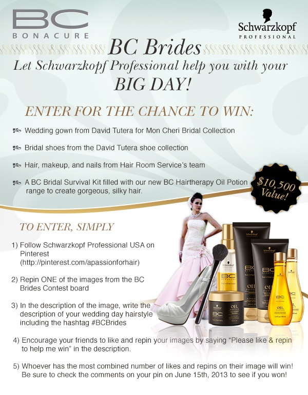 Contest Give Away Brides Pinterest