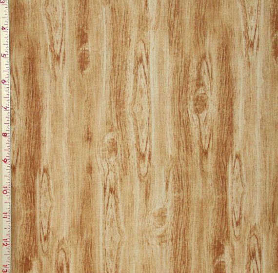 fabric 1 yard wood grain woodgrain cream beige bark