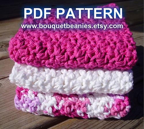 Crochet Washcloth Pattern : ... Waffle Facecloth/Washcloth Crochet Pattern pattern by Bouquet Beanies