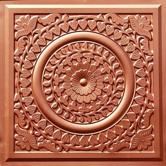 Copper tin ceiling