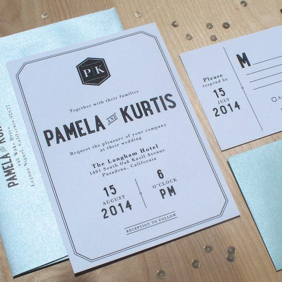 century modern invitation retro wedding invitation mod invitation