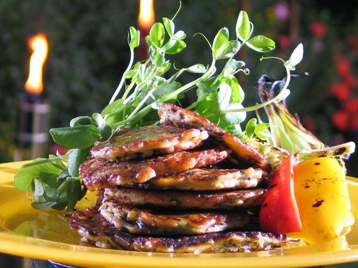 ... wild rice pancakes: http://gustotv.com/recipes/snacks/corn-wild-rice