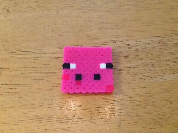 minecraft perler bead pig minecraft perler