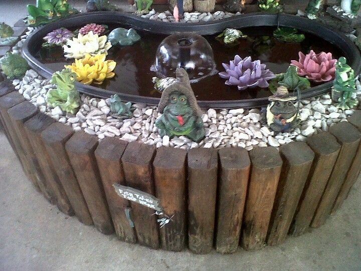 Goldfish pond a small town girl with a big country dream for Outdoor goldfish pond ideas