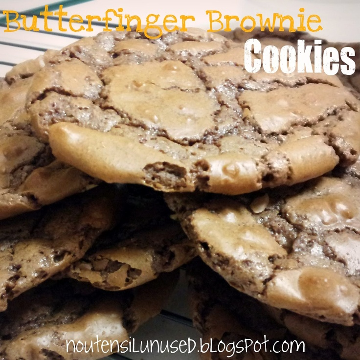 Butterfinger Brownie Cookies Recipe | No Utensil Unused