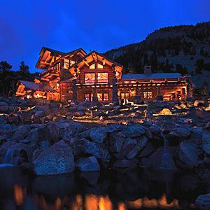 10,000-square-foot log home in Colorado
