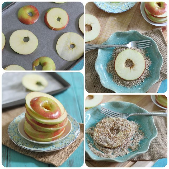baked almond apple crisp rings collage 2 by Runningtothekitchen, via ...