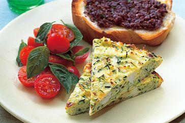 zucchini and ricotta frittata | Vegetarian Recipes to Try | Pinterest
