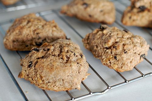 Spiced whole wheat scones with currants and walnuts