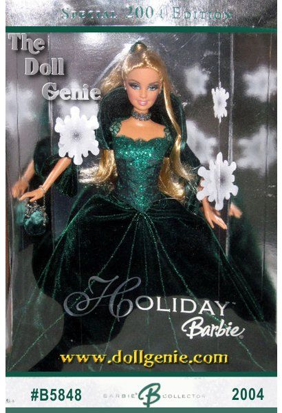 Beautiful doll commemorating the year in 2004 holiday barbie doll