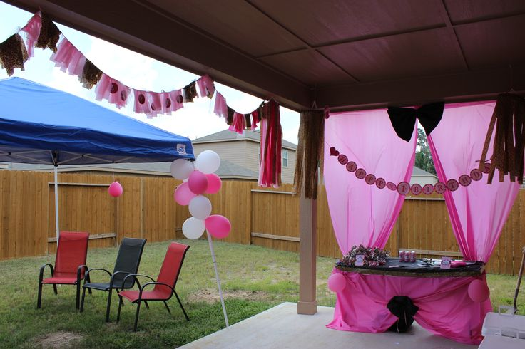... kitty cheetah birthday activities area diy homemade cheap party decor
