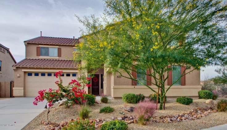 Landscaping front yard landscaping ideas desert southwest for Colorful front yard landscaping