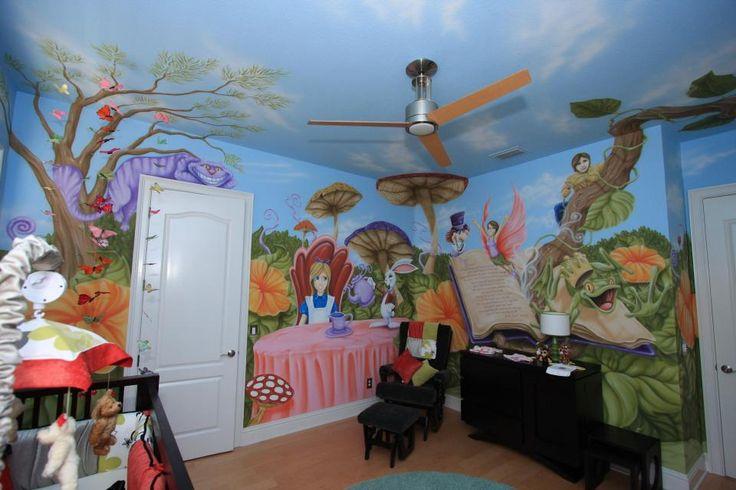 Alice in wonderland nursery nursery and kids rooms for Alice in wonderland kids room