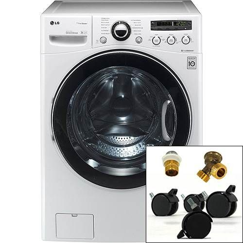 lg ventless deluxe washer dryer combo with portability kit