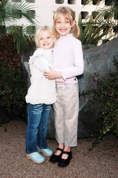 Elle and Dakota Fanning | Before They Were Famous | Pinterest