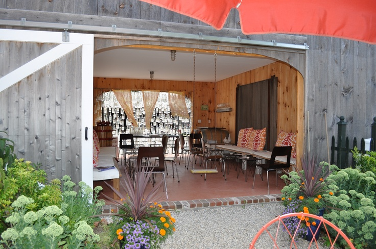 Backyard Barn Winery :  Winery Would love to put the wall of wine on an outdoor patio