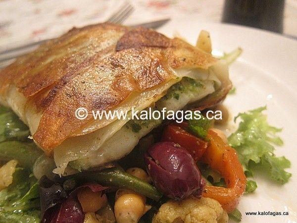 Cod Wrapped in Crispy Potatoes - Kalofagas - Greek Food & Beyond