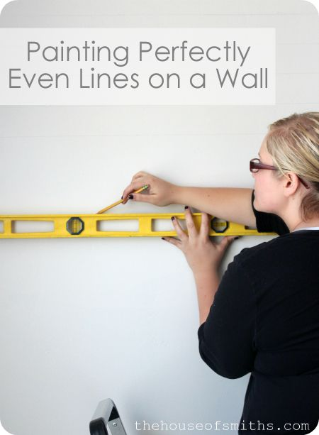House of Smith's: DIY Tutorial: Painting Evenly Spaced Gray Stripes on an Accent Wall