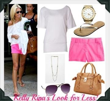 Kelly Ripa neon pink shorts Style #0: 3cca072bc3ed6f8f487f16e10d19dbb3