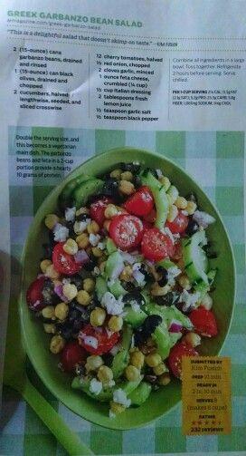 Greek Garbanzo Bean Salad | soup & salad + | Pinterest
