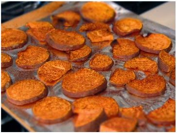 Jaclyn Stokes: BAKED SWEET POTATO ROUNDS | Food | Pinterest