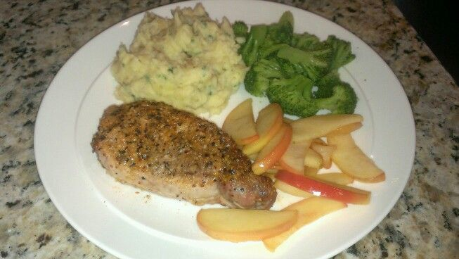 pork even though we had chops not a loin sauteeing the apples is ...