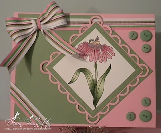 A sweet fairy card created by Dawn Bennett. (Rubber stamps by Repeat Impressions.)