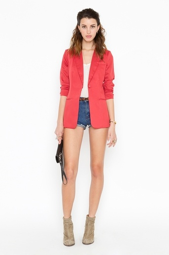 Beach Club Blazer - Red  Now$47.60  Final sale