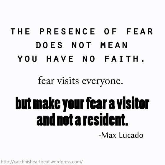 fearless by max lucado fear of Book review: fearless by max lucado to me, reading max lucado's fearless reminisces back about reading his other two books that have equally impacted me tremendously, in the grip of grace and traveling light.