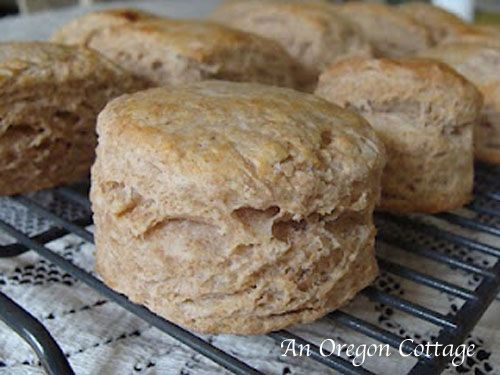 Amazing Whole Wheat Flaky Biscuits. Best biscuits ever!!!!! They ...