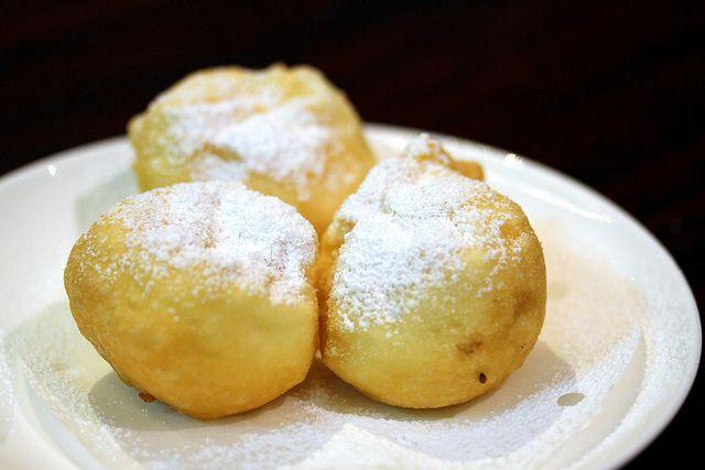 Red Bean Paste Egg White Souffle Ball | Food | Pinterest
