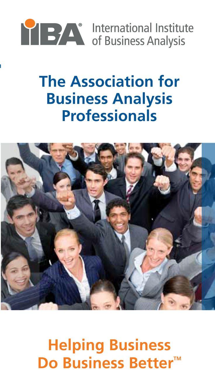 International Business Analysis, Certificate