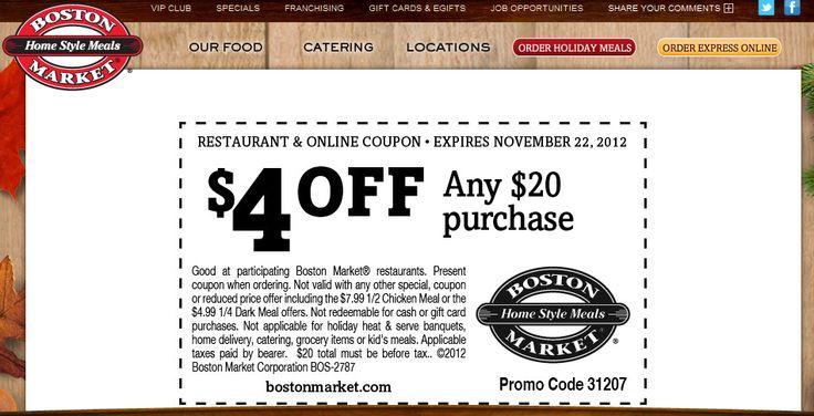 Boston restaurant coupons discounts